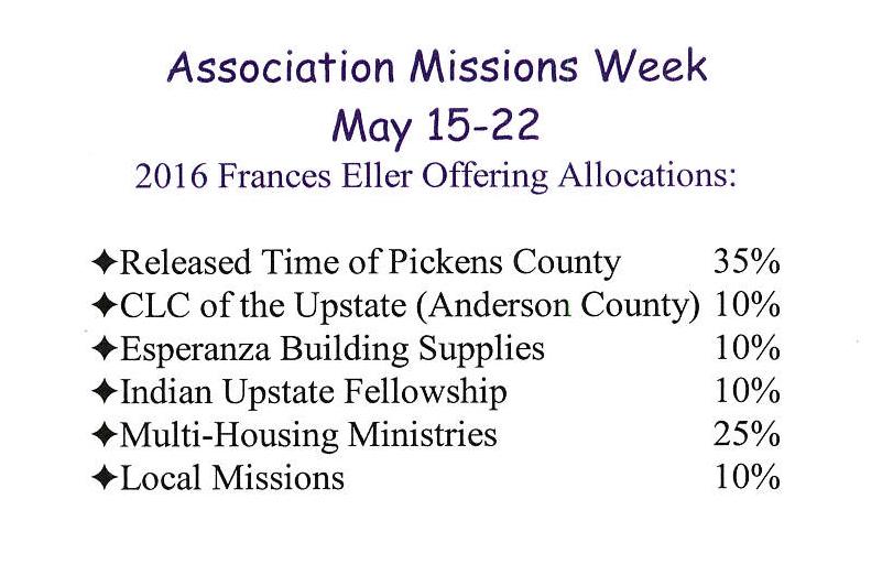 Association Mission Week