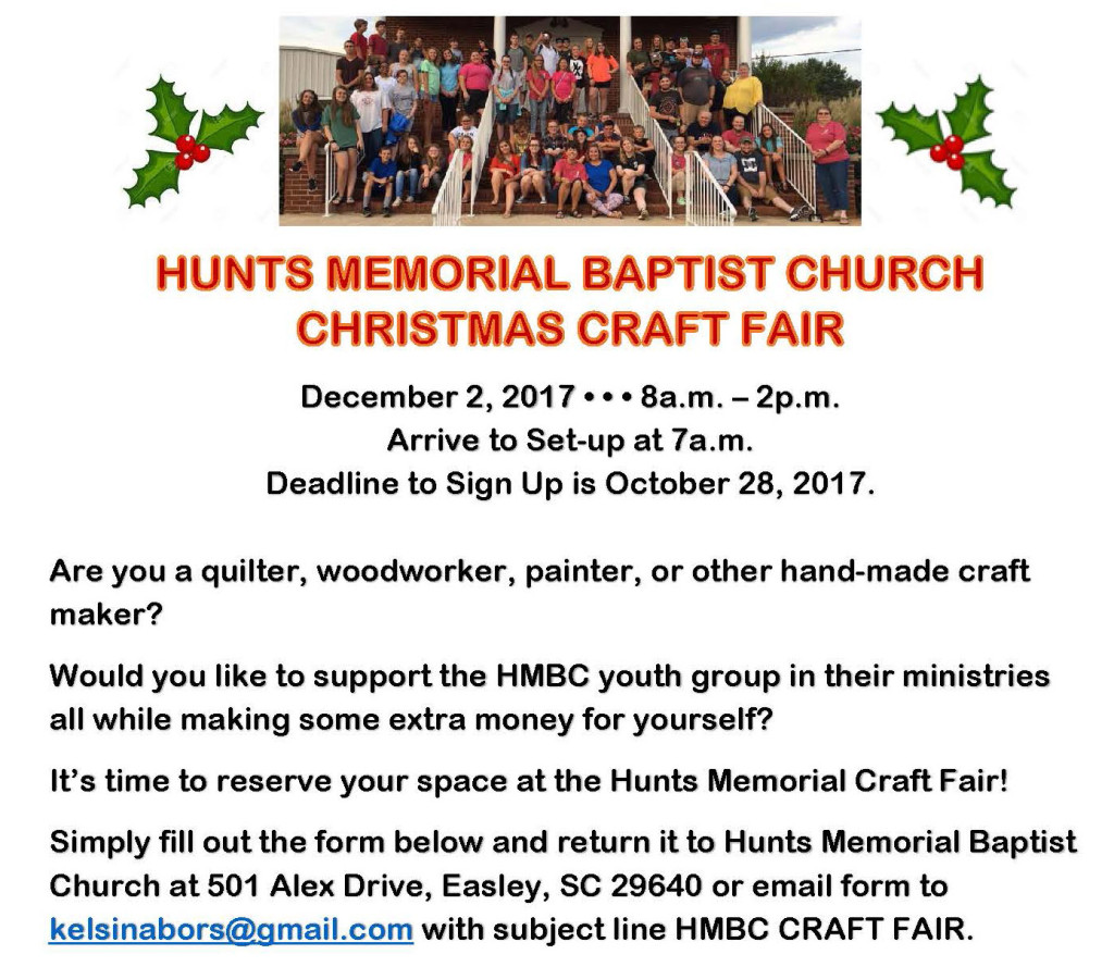 Christmas Craft Fair Registration Deadline
