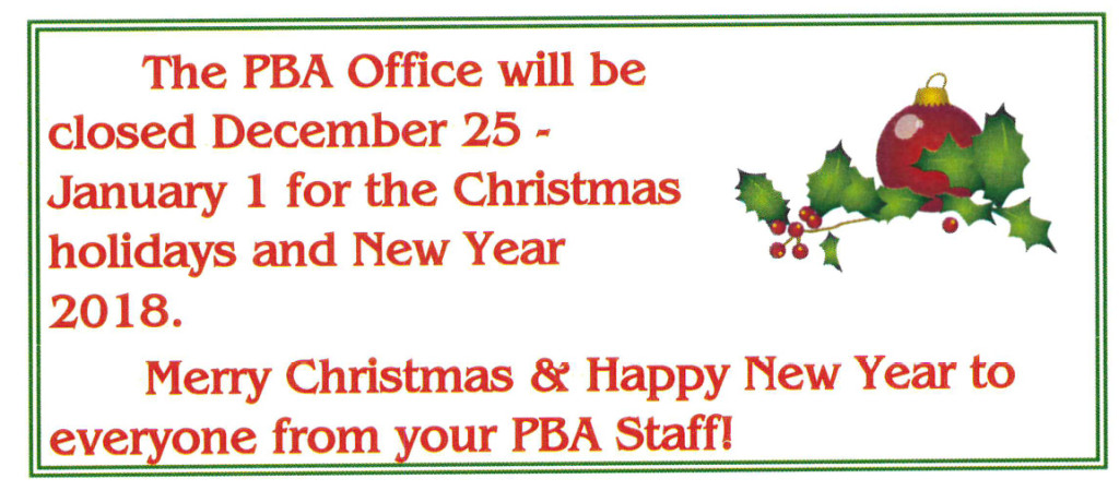 PBA Office Closed